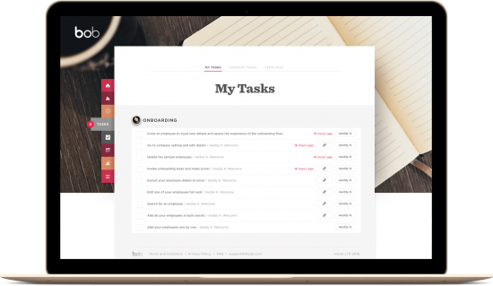 Automatic onboarding with My Tasks TASKS