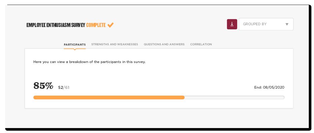 Employee enthusiasm survey